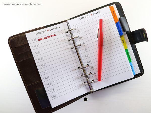realizzare un agenda con office word handmade Pinterest - agenda word