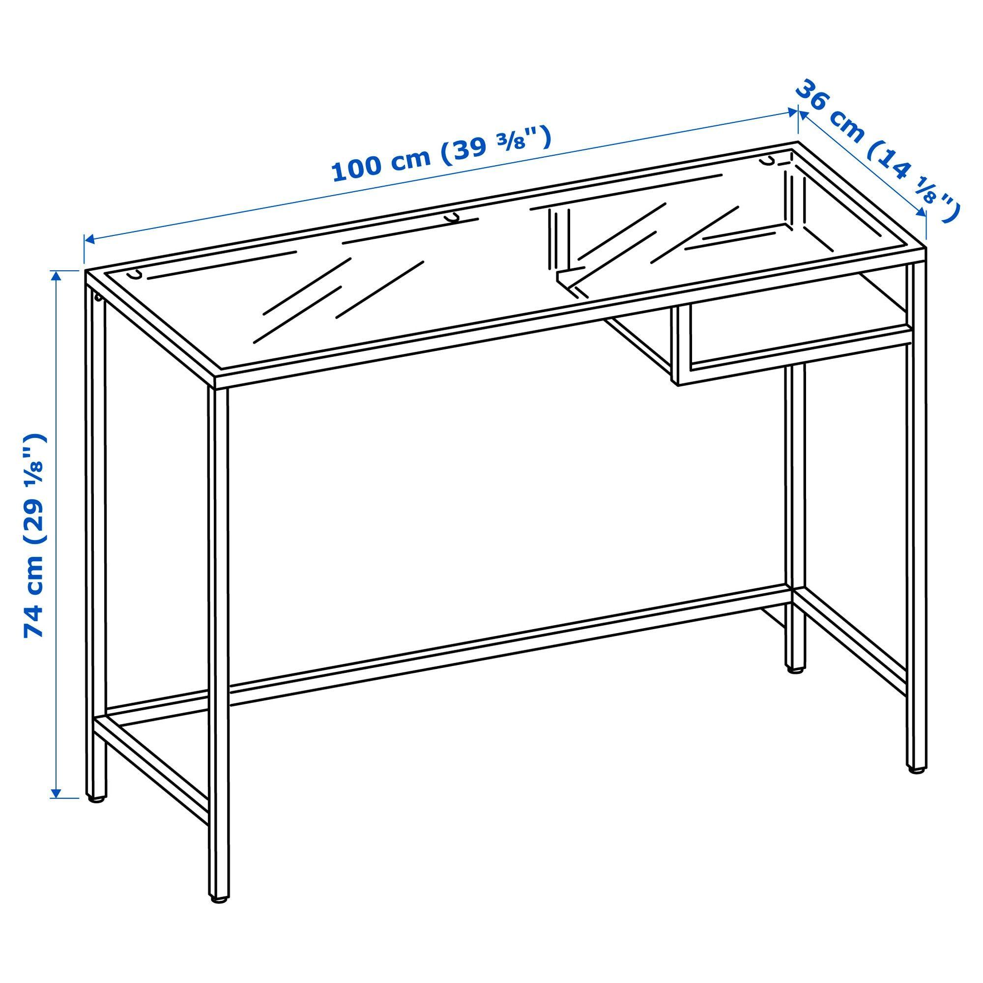 Vittsjo Laptop Table Black Brown Glass 393 8x141 8 100x36 Cm Ikea Laptop Table White Glass Craft Tables With Storage [ 2000 x 2000 Pixel ]