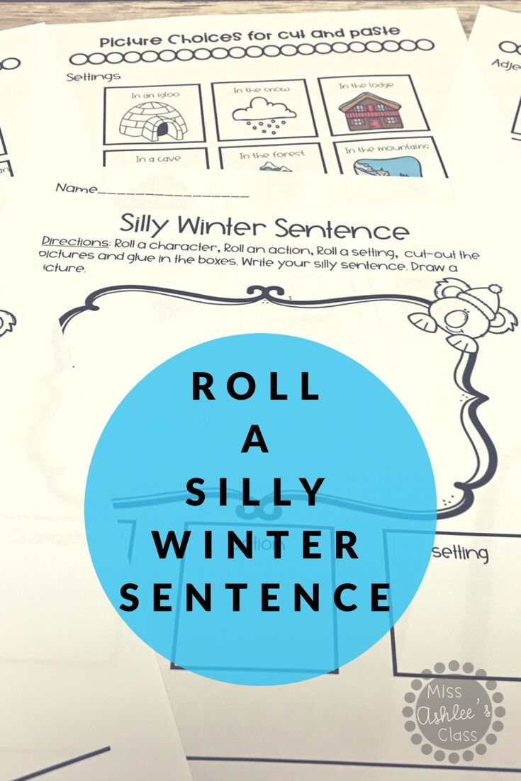 Roll a Silly Winter Story or Sentence | Winter Differentiated ...
