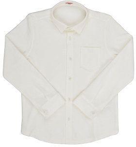 Il Gufo Men's Stretch-Cotton Piqué Button-Front Shirt-CREAM