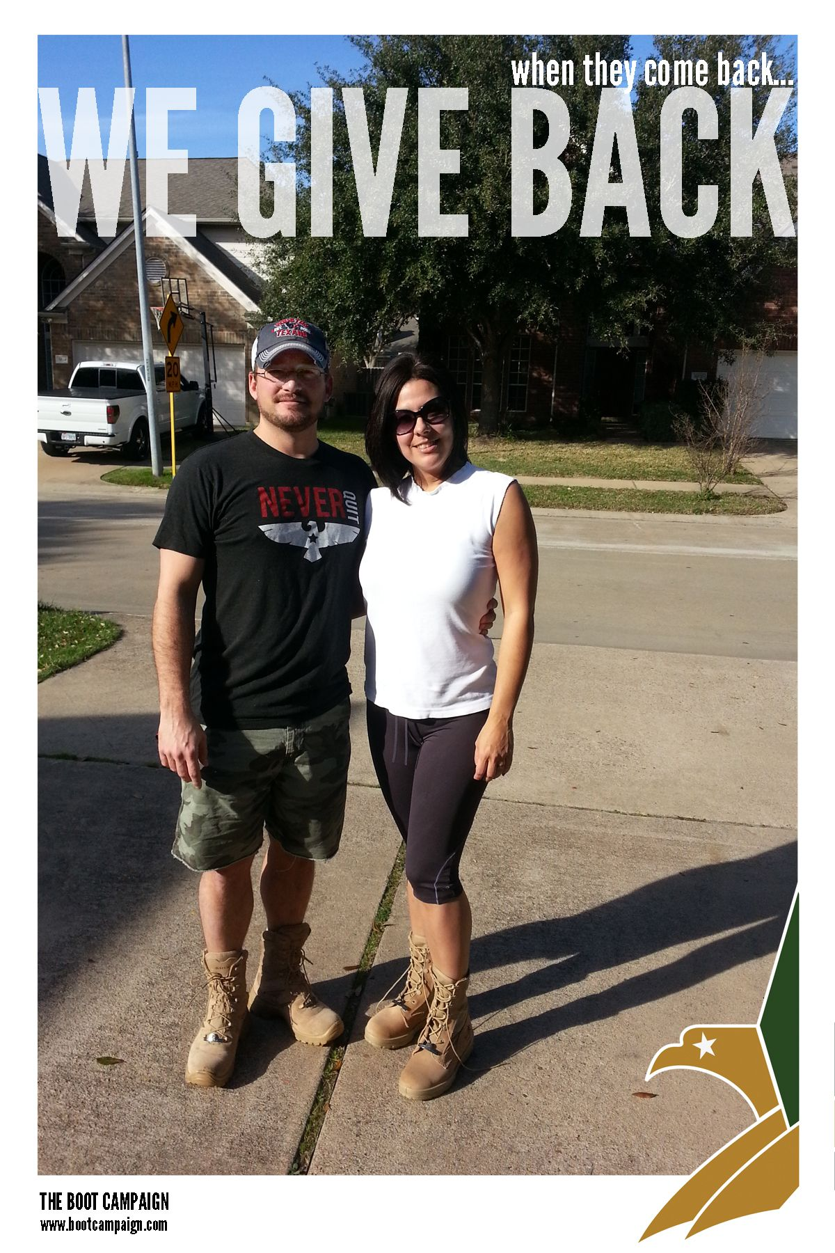 """""""Photo of my wife and I wearing our BOOTS in honor of ..."""