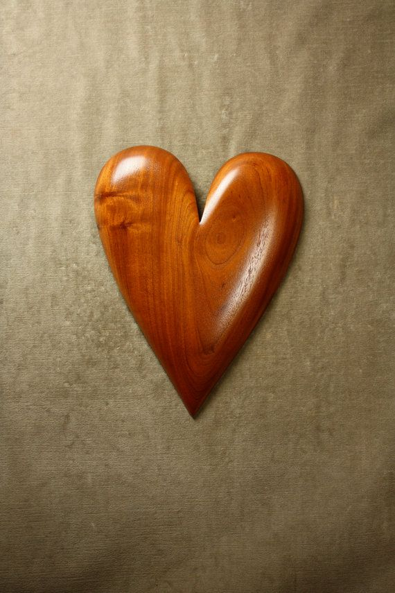 A Wood Heart Wood Carving Wall Hanging Gift By Treewizwoodcarvings Wooden Hearts Heart Wall Carving