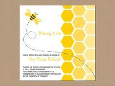 bee baby shower invitations Google Search Tias baby shower