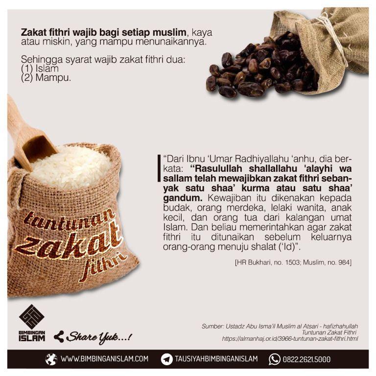 Ukuran Zakat Fitrah Per Orang Dengan Gambar Mutiara Qur An