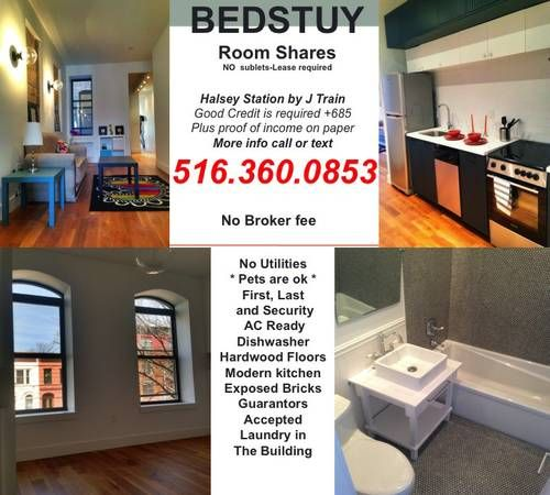 4 rooms4rent! in bedstuy!! all NEW New york apartments