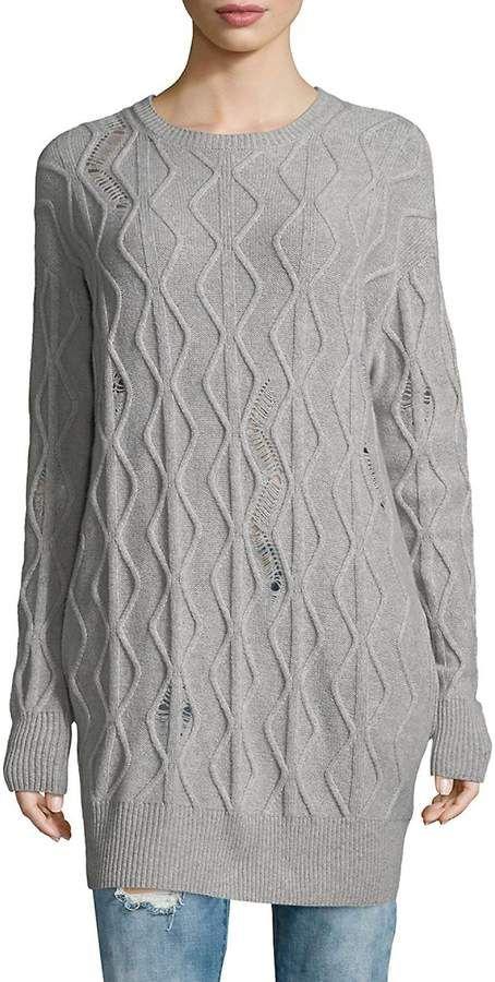 5e3431ee75 Stella McCartney Women s Long Cashmere-Wool Sweater