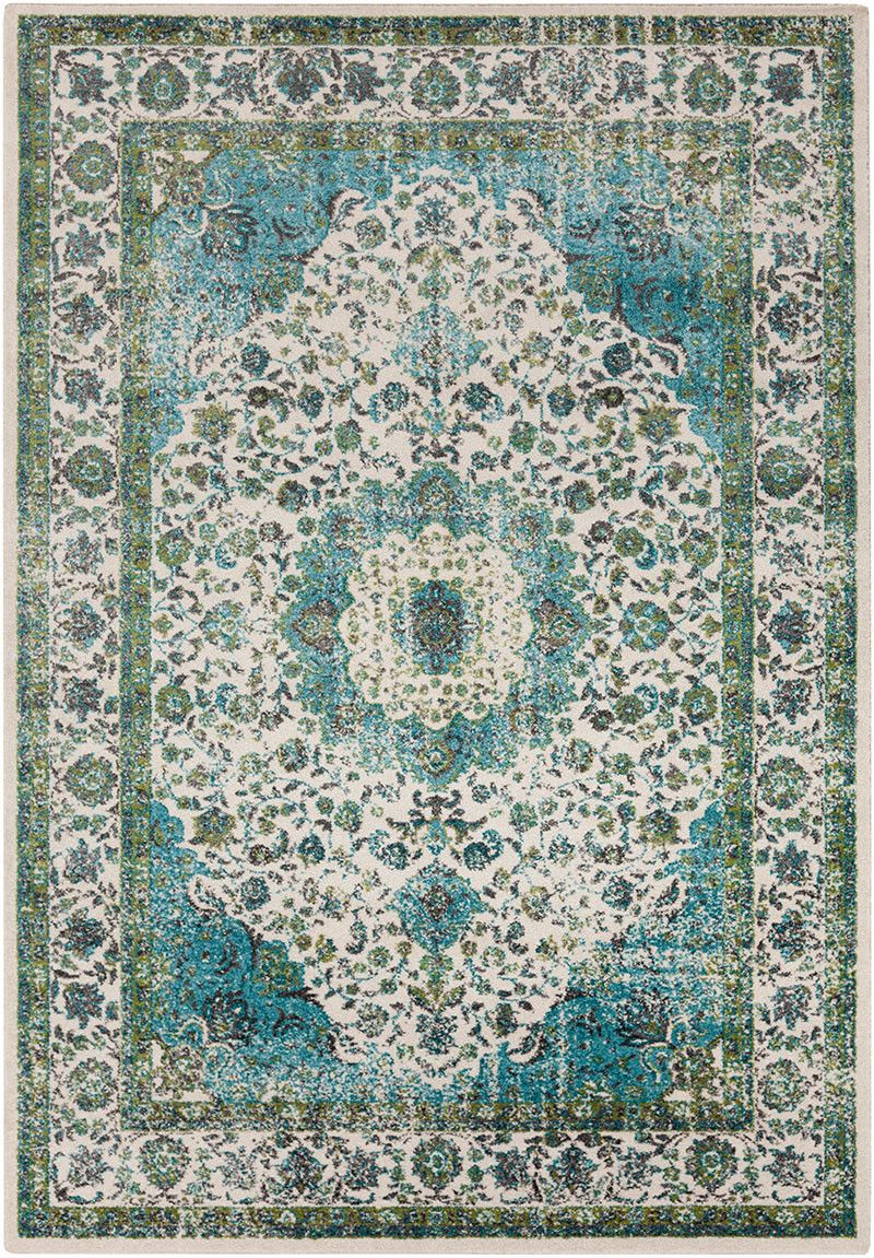 Aberdine Teal Lime Area Rug Favorites In Styled