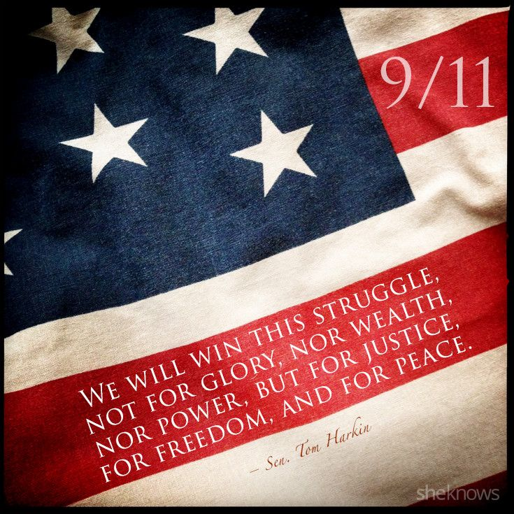 The 9/11 quotes that we'll never forget | Holiday: Red, White