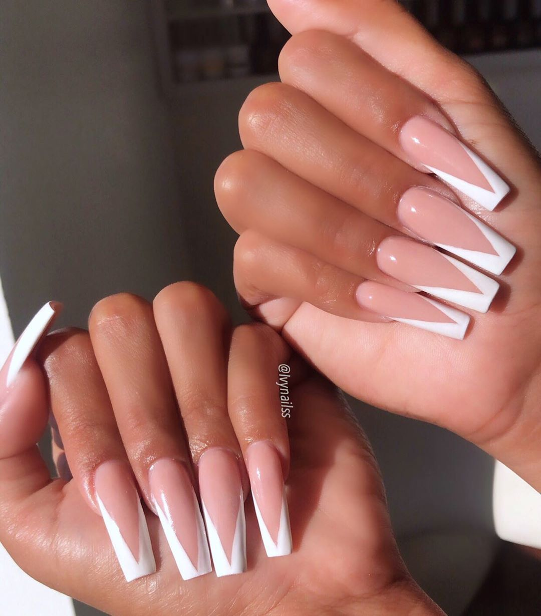 V French So Classy For Mrpapagi0rgi0 V In 2020 White Tip Acrylic Nails Long Square Acrylic Nails Square Acrylic Nails