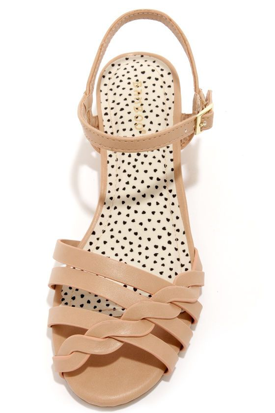 "Bamboo Juniper 91 Sand Sandals at LuLus.com! ""vegan leather"""