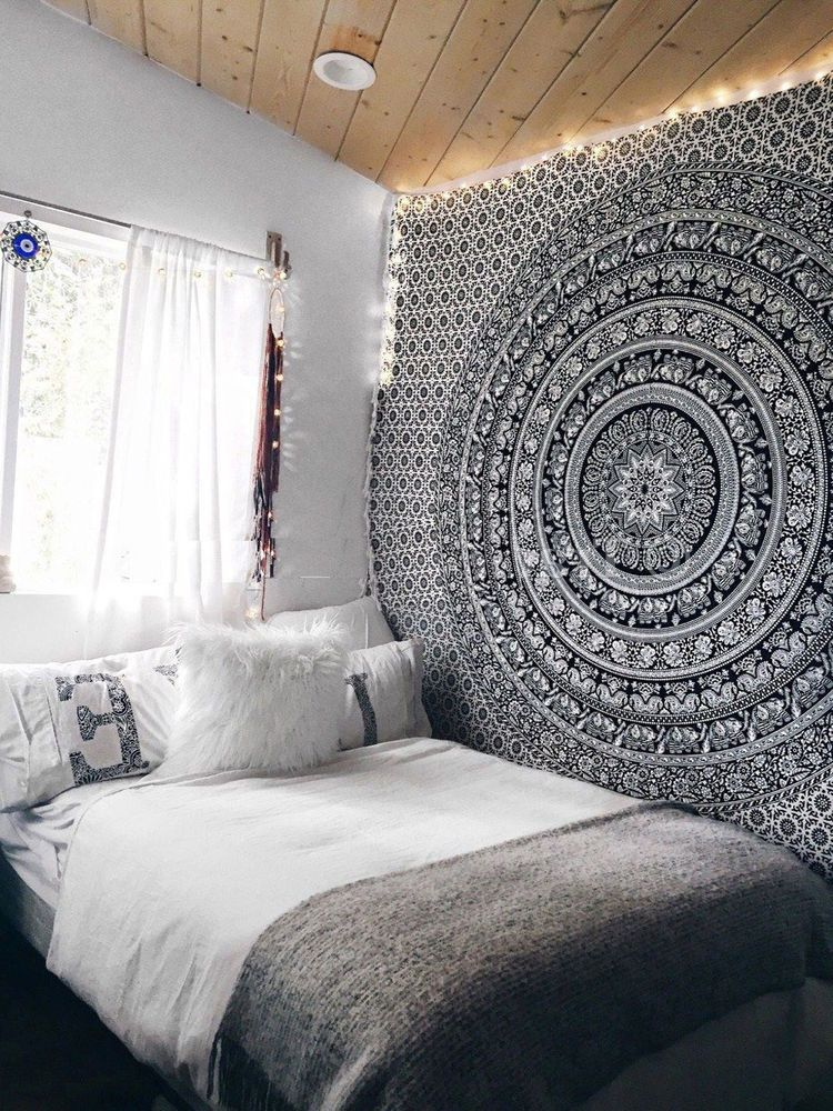 Elephant Throw Tapestry Indian Mandala Wall Hanging