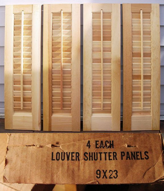 Shutters 66799: 4 @ 9 W X 23 H Unfinished Wood Interior Louver Shutter  Panels
