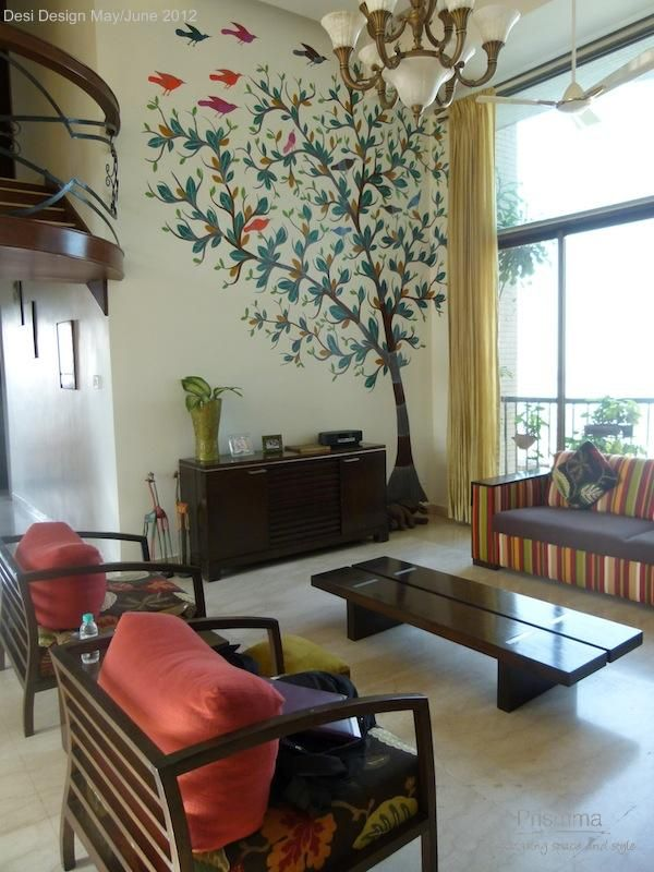 Traditional Interior Design By Ownby: Shibani's Home Inspired By Traditional Indian Handicrafts