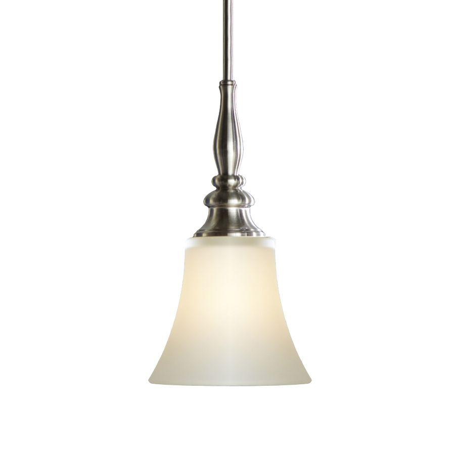 Shop Allen Roth 6 1 2 In W Brushed Nickel Mini Pendant Light