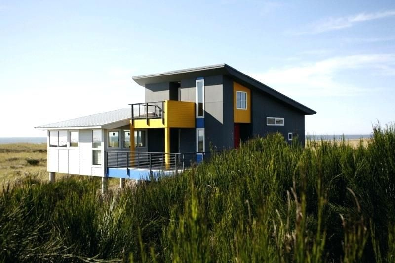 Exterior modern house modern exterior paint with grey yellow and white on the wall red on