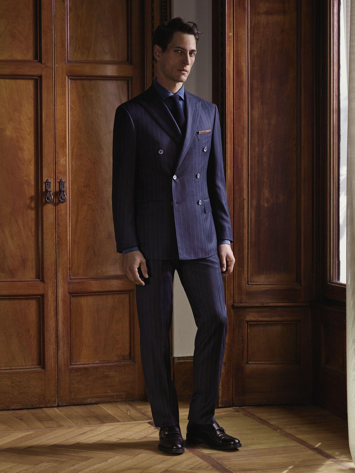 4de23af8dbaa7 Pinstripe  suit in extra-fine wool