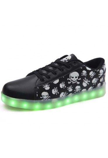 Leuchtende Schuhe Totenköpfe Herren   Schwarze schuhe, Led
