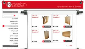 Fun, rustic web design for crafty online store