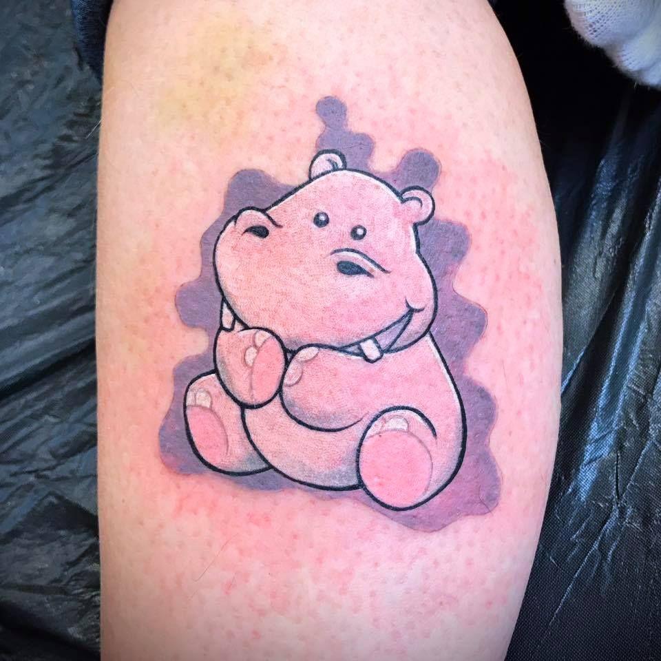 Cute elephant by Peter. tattoo odense denmark