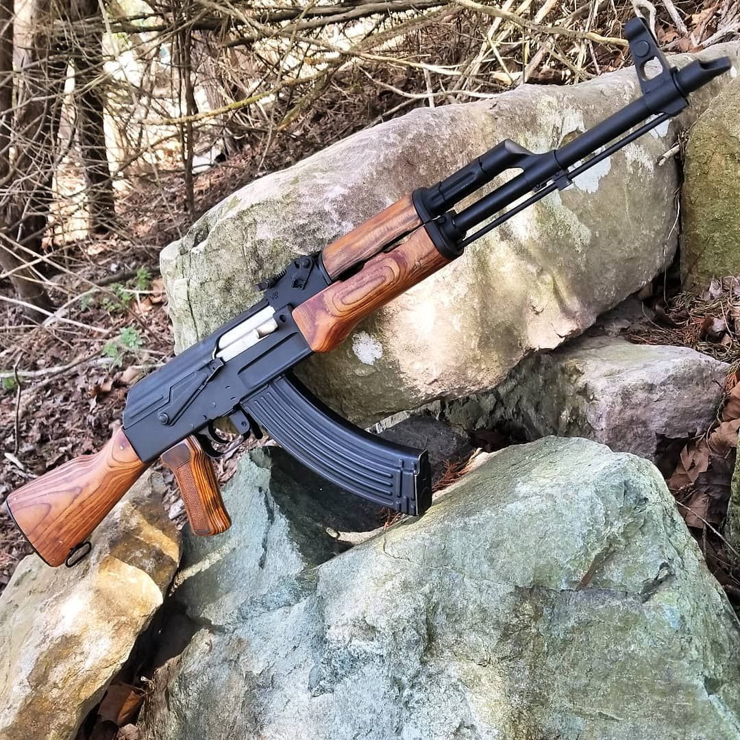 AK47 Milled Rifle AAMR-47-WBP and AAMR-47R With Side Rail