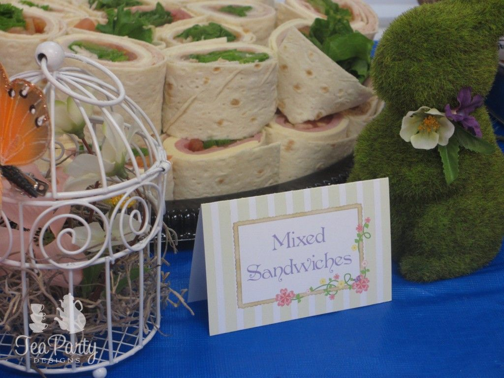 Tinkerbell Garden Fairy Party Food Tents