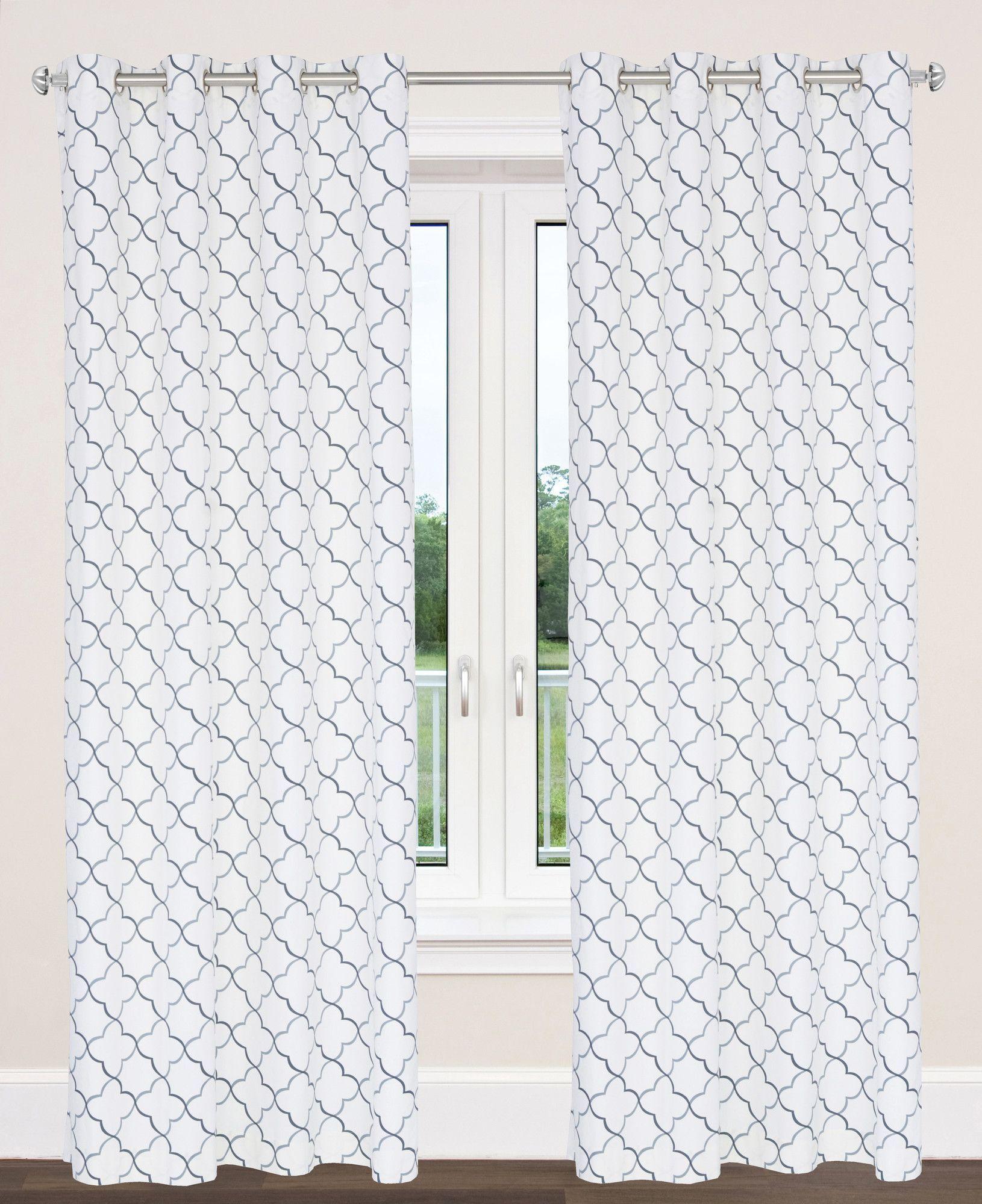 Brighton trellis geometric grommet panel pair brighton moroccan
