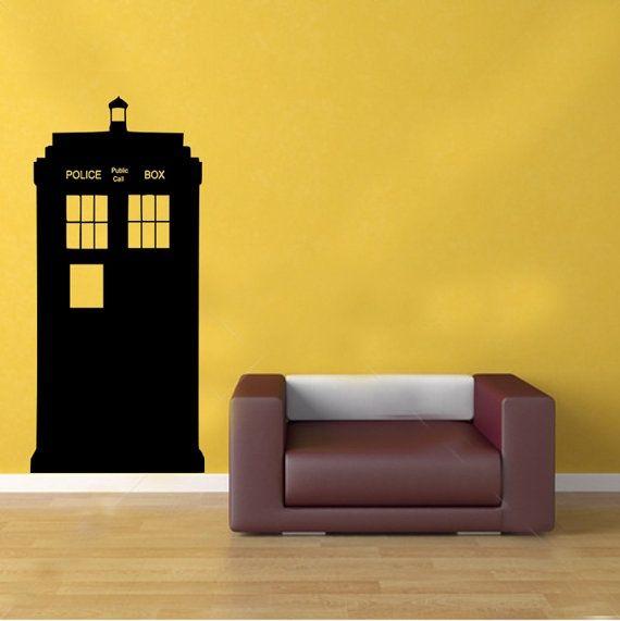 I found \'Doctor Who TARDIS Police Box Kids Vinyl Wall Sticker Decal ...