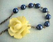 lemon yellow and dark blue