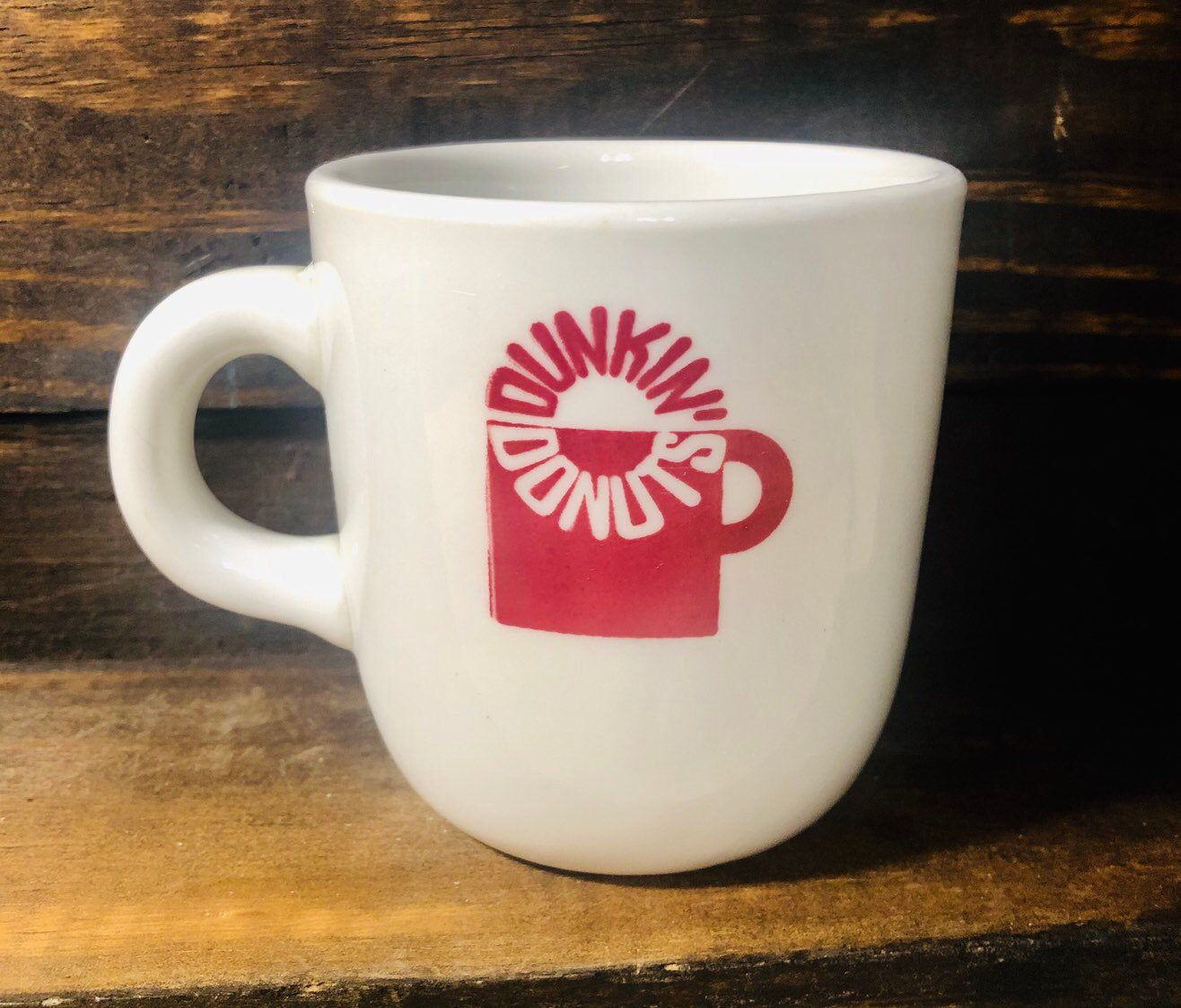 Extremely Rare 1965 Vintage Dunkin' Donuts Milk Glass