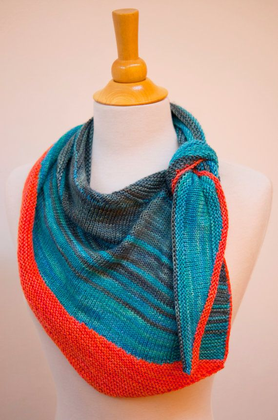 Knitting Pattern For Kitefish Shawlette Ad Versatile Keyhole Self