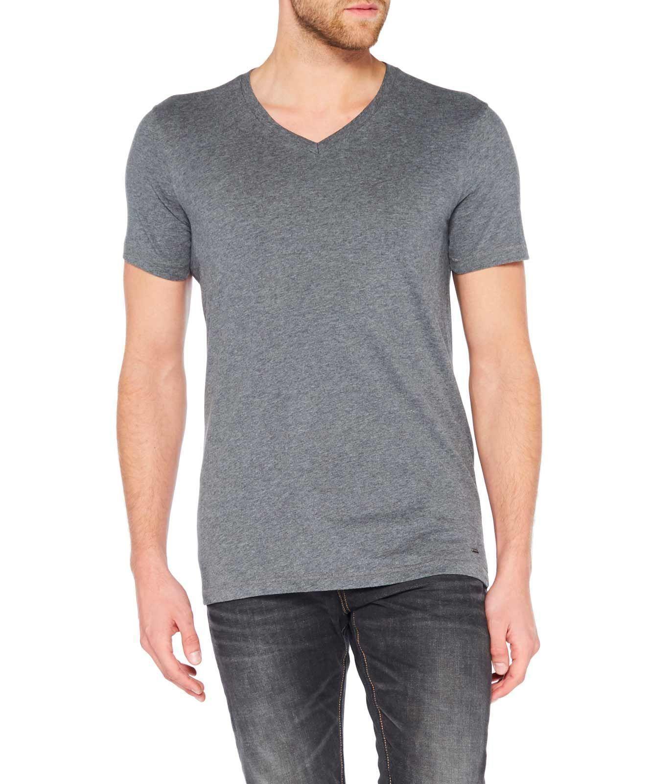 Colorado Joaquim V Neck T Shirt Dark Grey Mel em 2020
