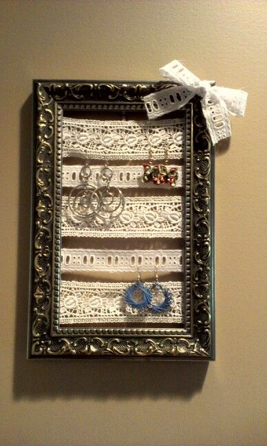 DIY decor for my dorm room using lace and a picture frame!   Dorm ...