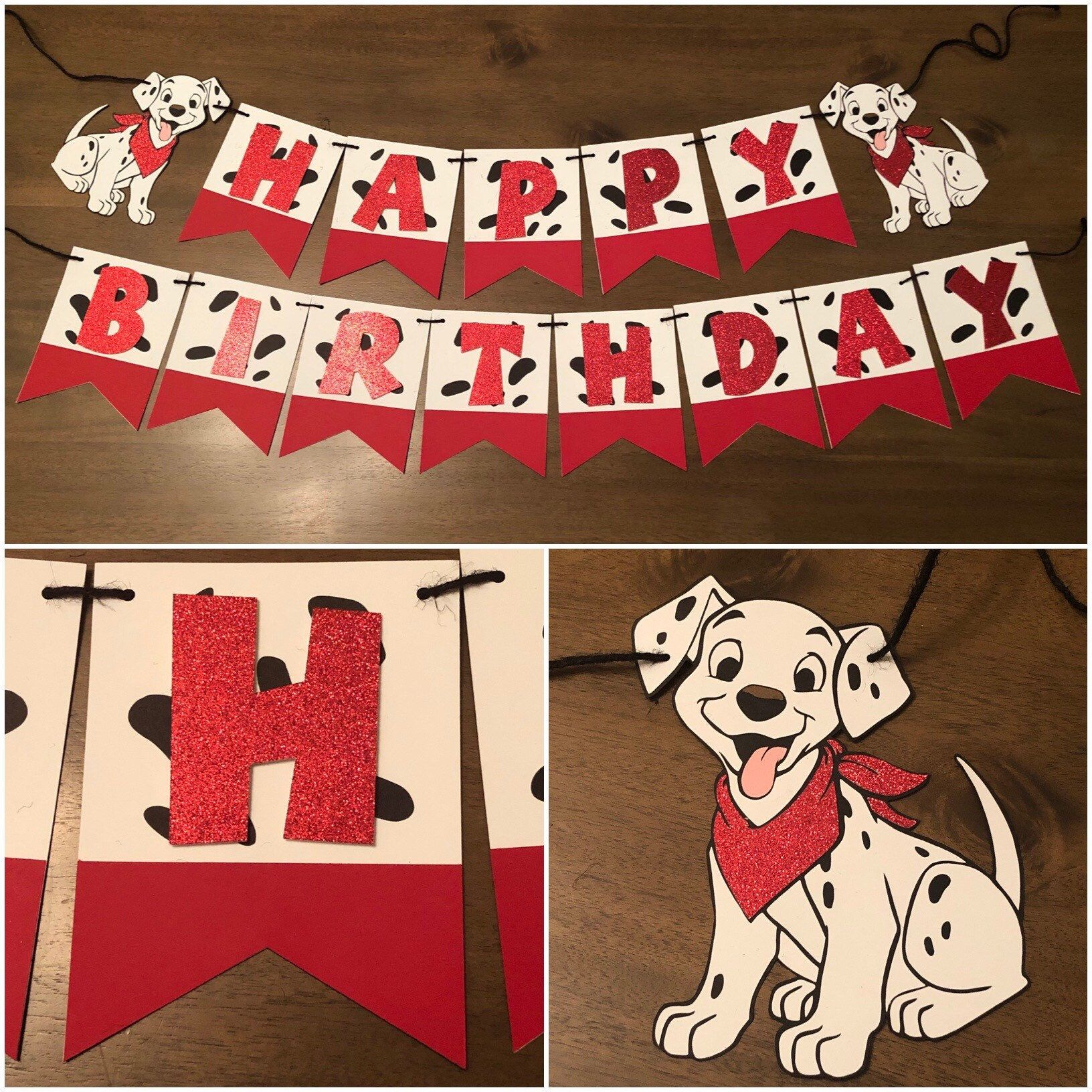 Cute Dog Birthday Banner Spotted Dog Banner Dalmatian Birthday Banner First Birthday Banner Fire House Banner Trending Now In 2020 Dog Birthday Dalmatian Party First Birthday Banners