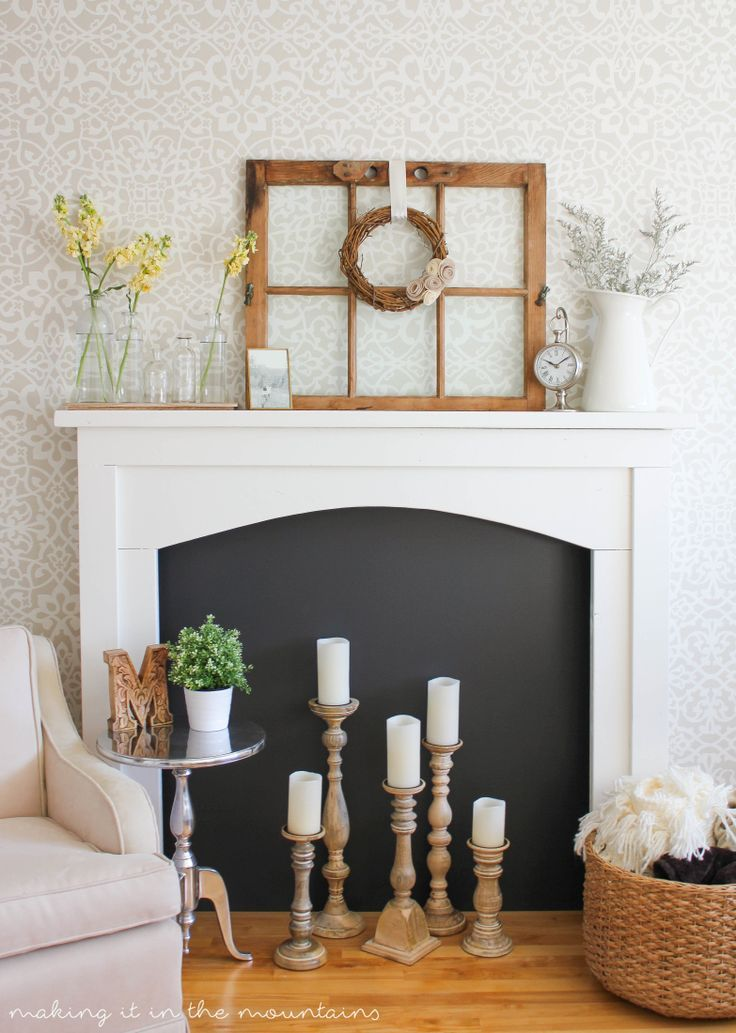 Painted Trellis Ideas Part - 48: Neutral Living Room Or Bedroom Makeover Ideas - DIY Painted Accent Wall  Pattern With Designer Wallpaper