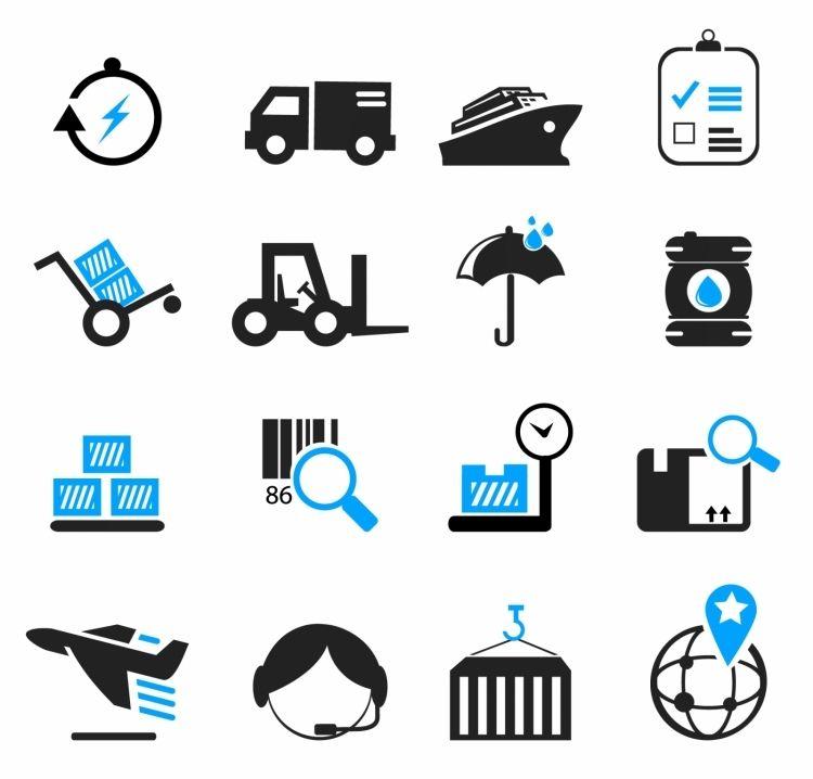 Icon Free Vector Vector Icon Logistics And Shipping Icons Desain Banner Desain