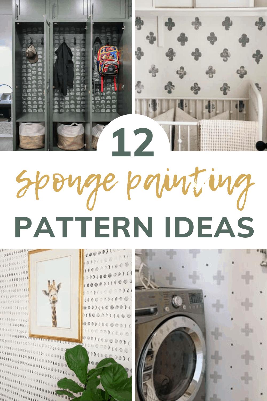Modern Sponge Painting Cheap Easy Diy Making Manzanita Wall Paint Patterns Accent Wall Paint Diy Wall Painting