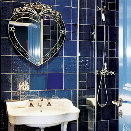 Colorful French Bathrooms Blue Bathrooms Designs Blue Bathroom French Bathroom Decor