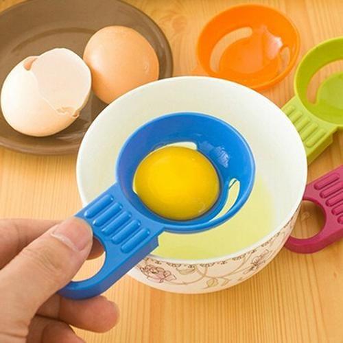Kitchen Tool Gadget Convenient Egg Yolk White Separator Divider Holder Sieve - Blue