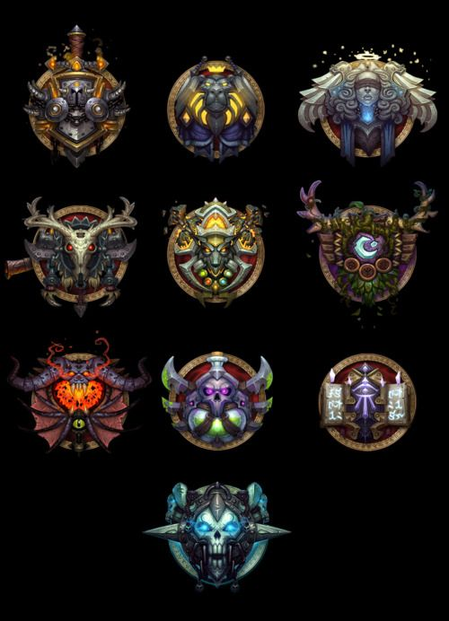 World Of Warcraft Hunter Class Icon Should All Of Shadows Is Rumored Mists Of Warcraft Rpg Hunter Mage Dk World Of Warcraft Warcraft Art Game Art