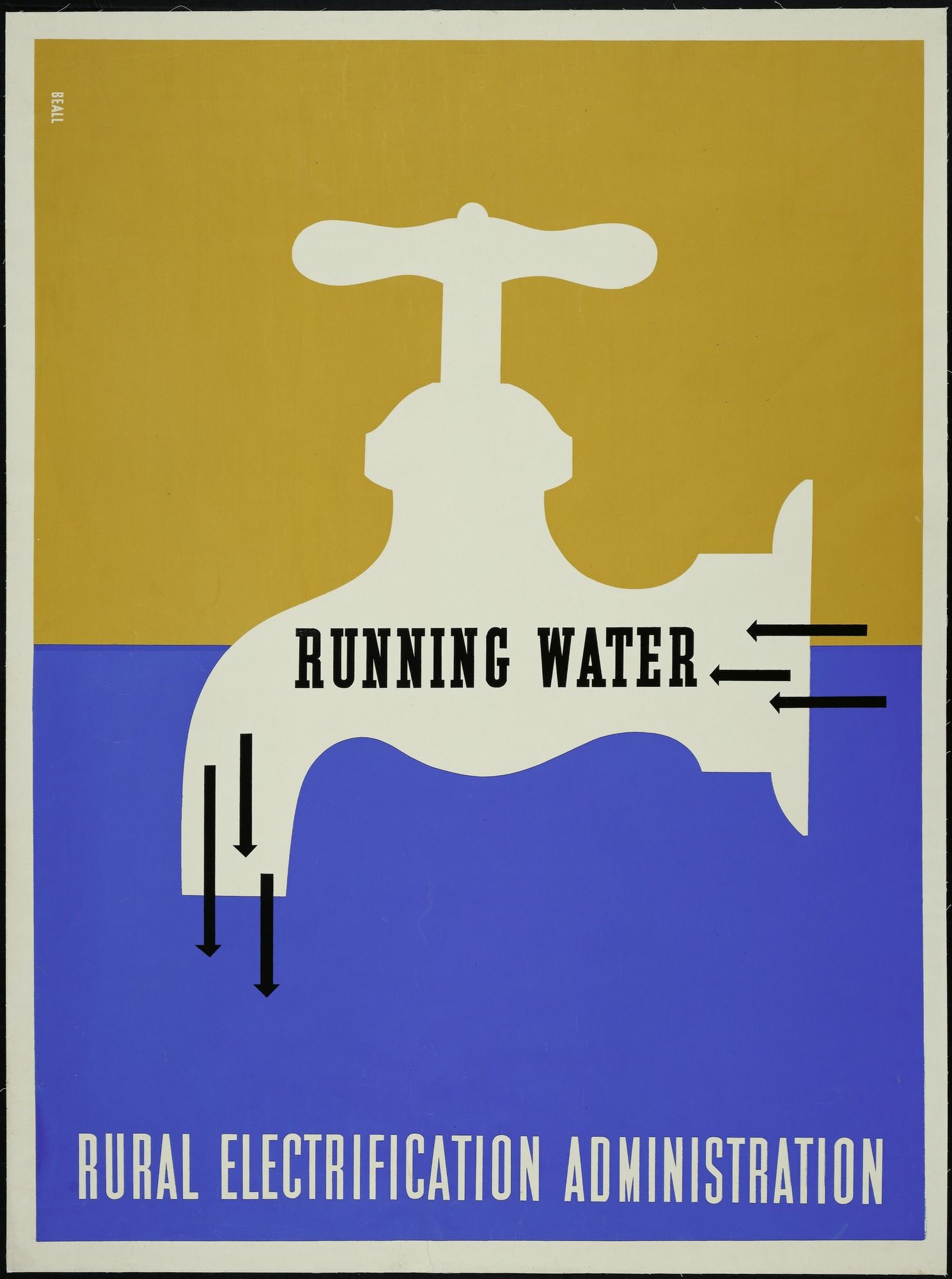 30ff1f366d65 Lester Beall. Running Water - Rural Electrification Administration. 1937  Figure 17-7