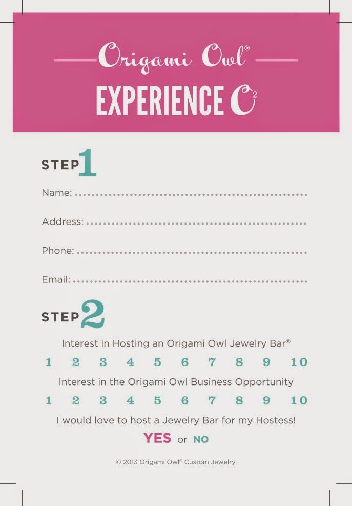 Using The Customer Care Card For Your Origami Owl Business Origami
