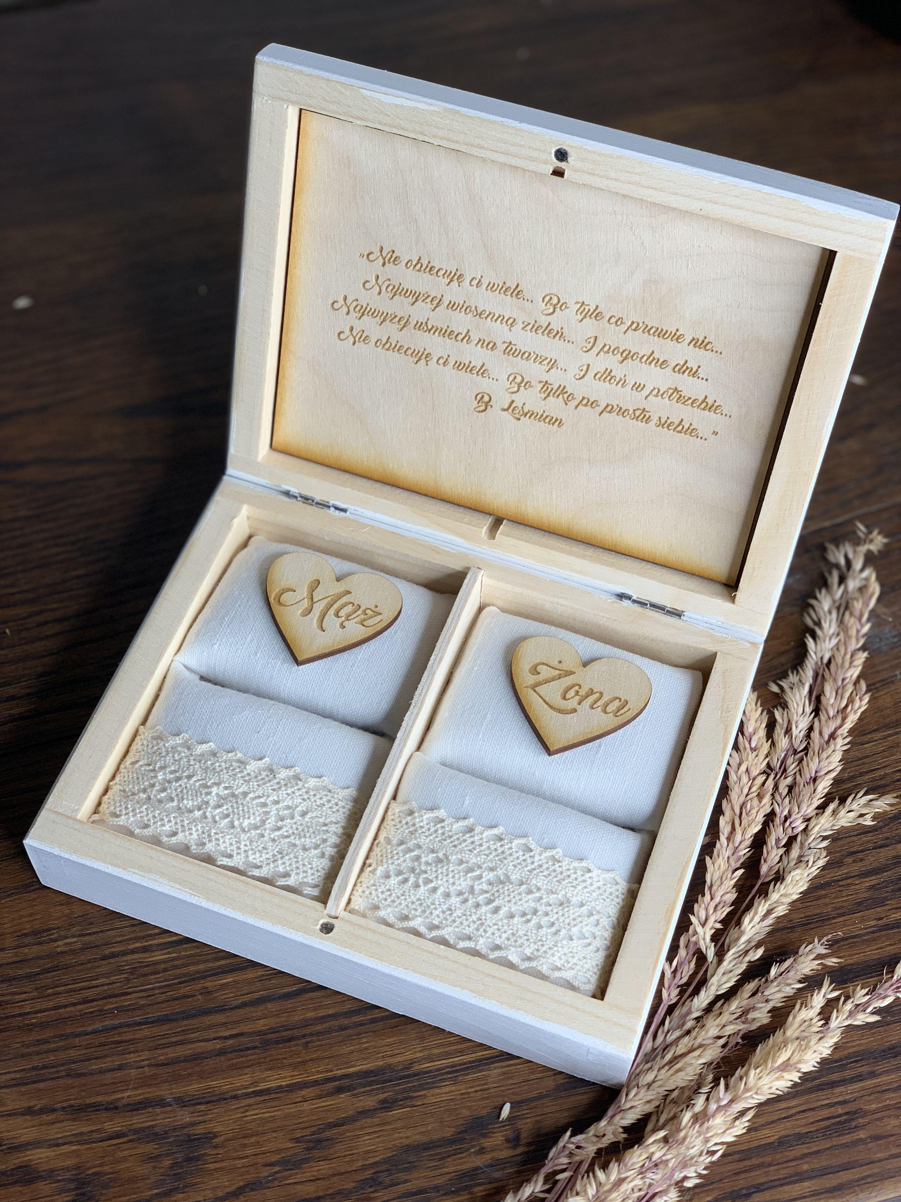 Pudelko Na Obraczki Wedding Box Boho Wedding Rustic Wedding