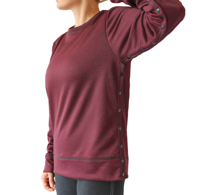Post Surgery Outerwear Shoulder Breast Cancer Special Needs Hospice  Style Shandra Shoulder Shirt FLEECE Cape Mastectomy