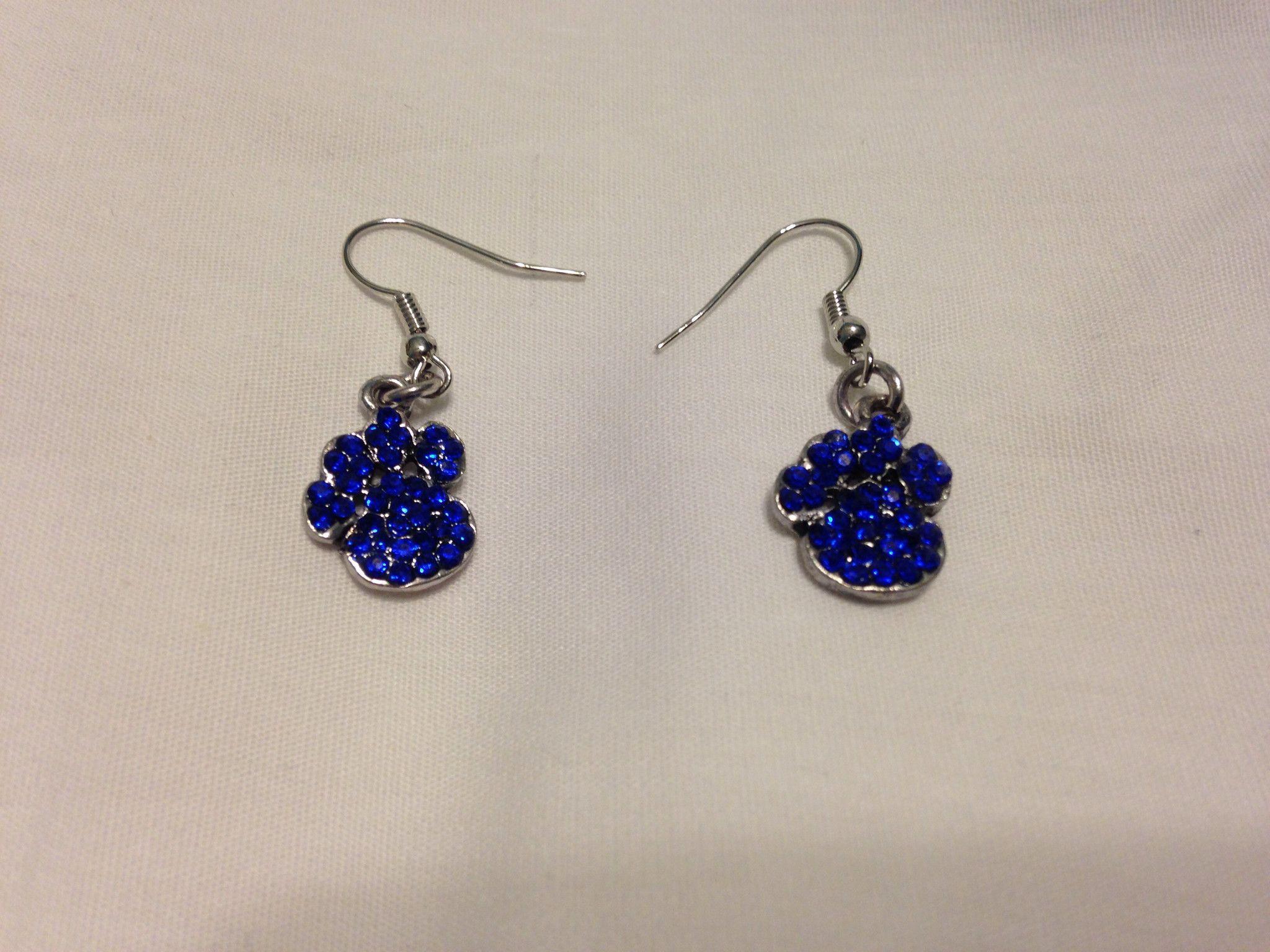 Paw Print Dangle Earrings (XS)