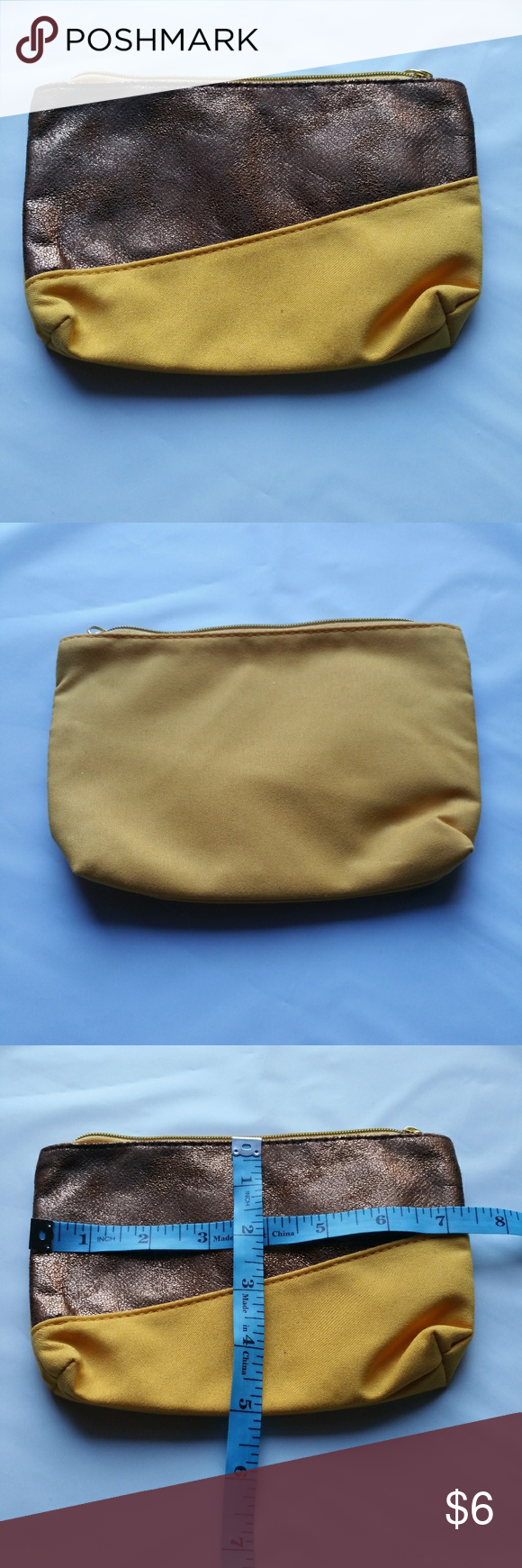 IPSY Cosmetic Case/Makeup Bag, Copper Colorblock Ipsy