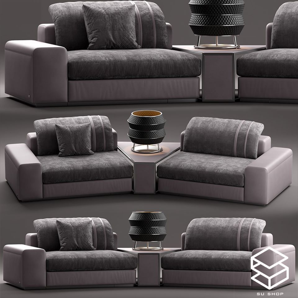 2554 Rugiano MIAMI Sofa Sketchup Model Free Download