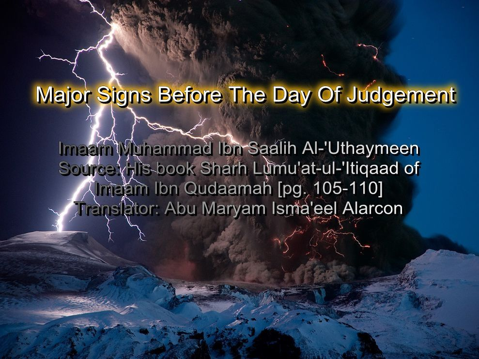 Major Signs Before The Day Of Judgement Information About Islam