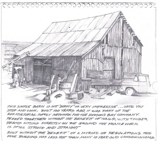 Old Barn Drawings Sketches