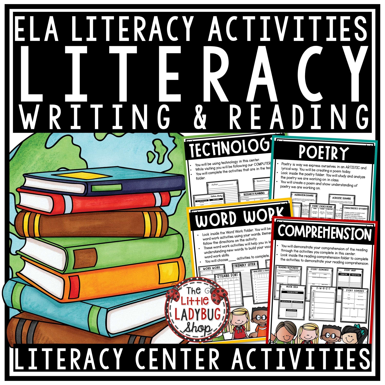 Literacy Centers 3rd Grade 4th Grade Activities