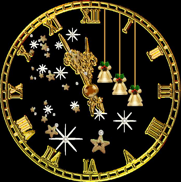 картинка новогодних часов со стрелками для распечатки тем, как начать